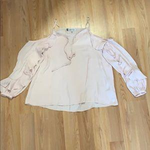 Cold shoulder Jennifer Lopez blouse.